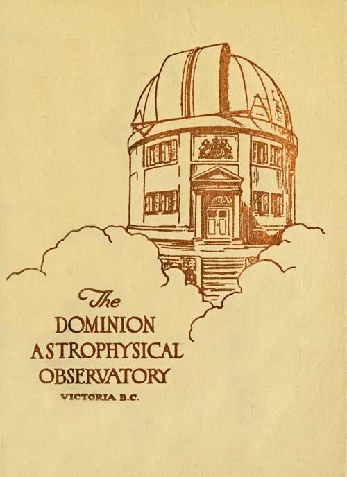 Джон Стенлі Пласкетт The Dominion Astrophysical Observatory, Victoria, B.C.