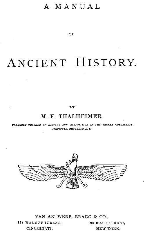 Mary Elsie Thalheimer A Manual of Ancient History